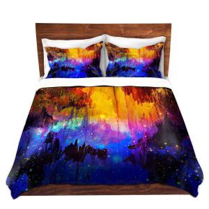 Artistic Duvet Covers and Shams Bedding | Julia Di Sano - Misty Cavern