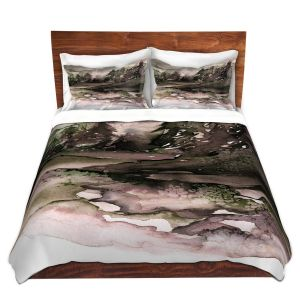 Artistic Duvet Covers and Shams Bedding | Julia Di Sano - Never Leave the Path ll | Abstract Nature Trees