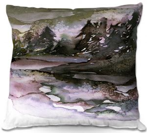 Decorative Outdoor Patio Pillow Cushion   Julia Di Sano - Never Leave the Path lll   Abstract Nature Trees