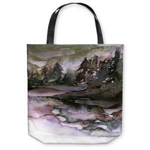 Unique Shoulder Bag Tote Bags | Julia Di Sano - Never Leave the Path lll | Abstract Nature Trees