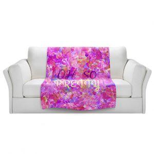 Artistic Sherpa Pile Blankets | Julia Di Sano - Oh So Pretty