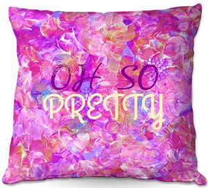 Throw Pillows Decorative Artistic | Julia Di Sano - Oh So Pretty