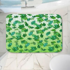 Decorative Bathroom Mats   Julia Di Sano - Ombre Autumn Green Aqua   Autumn Leaves pattern