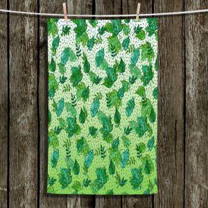 Unique Hanging Tea Towels | Julia Di Sano - Ombre Autumn Green Aqua