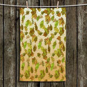 Unique Hanging Tea Towels | Julia Di Sano - Ombre Autumn Green Tan