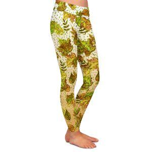 Casual Comfortable Leggings | Julia Di Sano - Ombre Autumn Green Tan