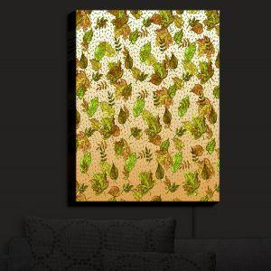 Nightlight Sconce Canvas Light | Julia Di Sano - Ombre Autumn Green Tan | Autumn Leaves pattern