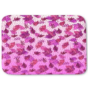 Decorative Bathroom Mats | Julia Di Sano - Ombre Autumn Purple Pink | Autumn Leaves pattern