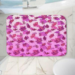 Decorative Bathroom Mats | Julia Di Sano - Ombre Autumn Purple Pink | Autumn Leaves pattern
