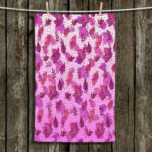 Unique Hanging Tea Towels | Julia Di Sano - Ombre Autumn Purple Pink