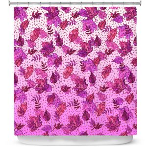 Premium Shower Curtains | Julia Di Sano - Ombre Autumn Purple Pink