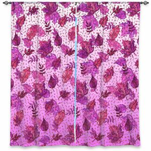 Decorative Window Treatments | Julia Di Sano - Ombre Autumn Purple Pink | Autumn Leaves pattern