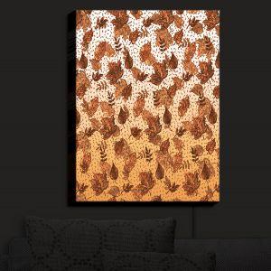Nightlight Sconce Canvas Light | Julia Di Sano - Ombre Autumn Sepia Brown | Autumn Leaves pattern