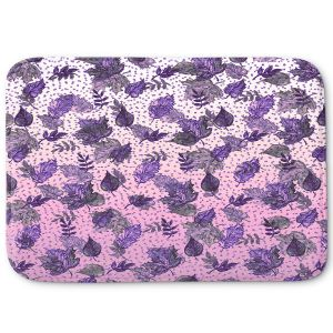 Decorative Bathroom Mats | Julia Di Sano - Ombre Autumn Violet Purple | Autumn Leaves pattern
