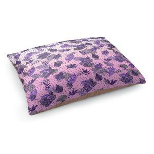 Decorative Dog Pet Beds   Julia Di Sano - Ombre Autumn Violet Purple   Autumn Leaves pattern