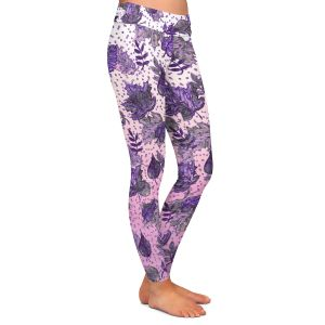 Casual Comfortable Leggings | Julia Di Sano - Ombre Autumn Violet Purple