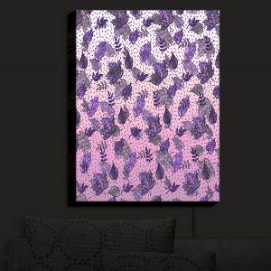 Nightlight Sconce Canvas Light | Julia Di Sano - Ombre Autumn Violet Purple | Autumn Leaves pattern