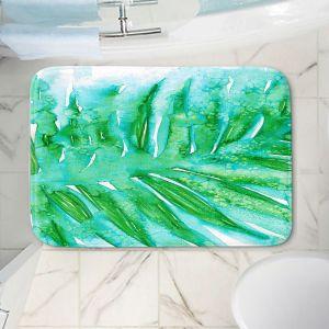 Decorative Bathroom Mats | Julia Di Sano - Paradise Palm Aqua Green | Nature Leaf