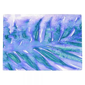 Decorative Kitchen Placemats 18x13 from DiaNoche Designs by Julia Di Sano - Paradise Palm Periwinkle