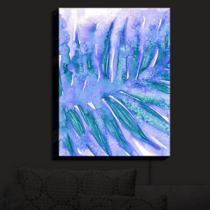 Nightlight Sconce Canvas Light   Julia Di Sano - Paradise Palm Periwinkle