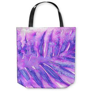 Unique Shoulder Bag Tote Bags | Julia Di Sano - Paradise Palm Purple | Nature Leaf