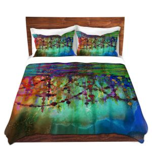 Artistic Duvet Covers and Shams Bedding | Julia Di Sano - Pearl String Colors I