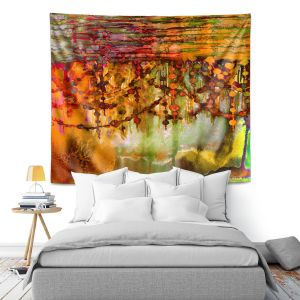 Artistic Wall Tapestry | Julia Di Sano Pearl String Colors II
