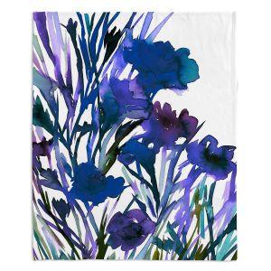 Artistic Sherpa Pile Blankets | Julia Di Sano - Petal Thoughts Blue