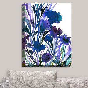 Decorative Canvas Wall Art   Julia Di Sano - Petal Thoughts Blue   Abstract Painting