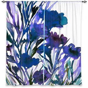 Decorative Window Treatments | Julia Di Sano - Petal Thoughts Blue