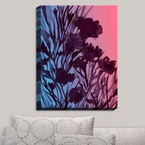 Decorative Canvas Wall Art | Julia Di Sano - Petal Thoughts Pink Blue | Abstract Painting