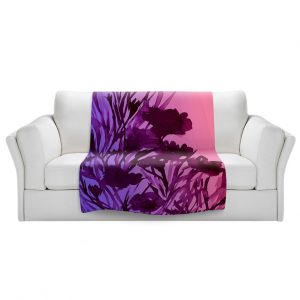 Artistic Sherpa Pile Blankets | Julia Di Sano - Petal Thoughts Pink Purple