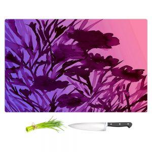 Artistic Kitchen Bar Cutting Boards | Julia Di Sano - Petal Thoughts Pink Purple
