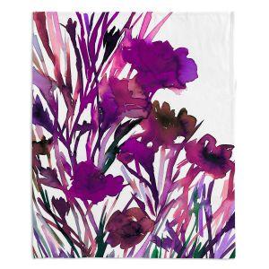 Artistic Sherpa Pile Blankets | Julia Di Sano - Petal Thoughts Purple