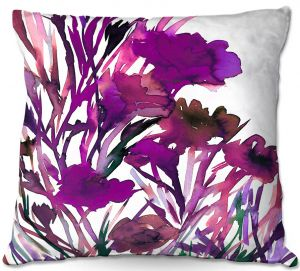 Unique Outdoor Pillow 16X16 from DiaNoche Designs by Julia Di Sano - Petal Thoughts Purple