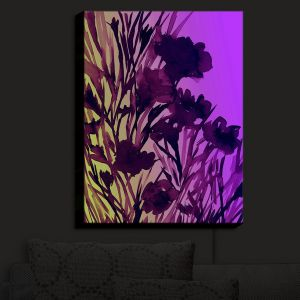 Nightlight Sconce Canvas Light | Julia Di Sano - Petal Thoughts Purple Yellow | Abstract Painting