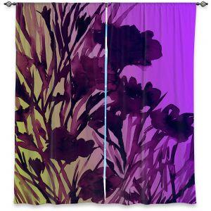 Decorative Window Treatments | Julia Di Sano - Petal Thoughts Purple Yellow