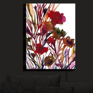 Nightlight Sconce Canvas Light | Julia Di Sano - Petal Thoughts Red | Abstract Painting