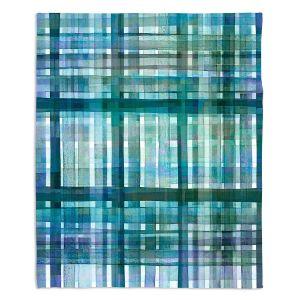 Artistic Sherpa Pile Blankets | Julia Di Sano - Plaid Blue Green Pastel | pattern shapes geometric rectangle