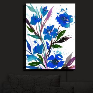 Nightlight Sconce Canvas Light | Julia Di Sano - Pocketful Posies Blue | Abstract Painting