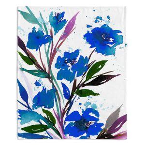Artistic Sherpa Pile Blankets | Julia Di Sano - Pocketful Posies Blue