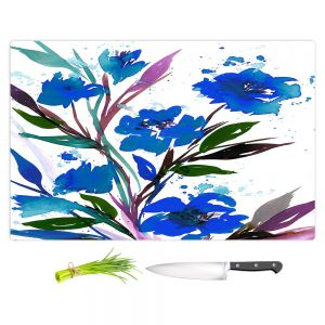 Artistic Kitchen Bar Cutting Boards | Julia Di Sano - Pocketful Posies Blue