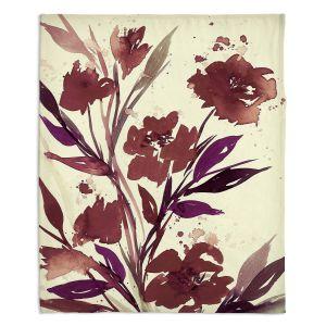 Decorative Fleece Throw Blankets | Julia Di Sano - Pocketful Posies Brown