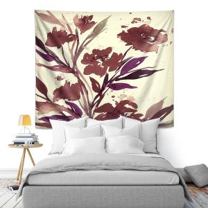 Artistic Wall Tapestry   Julia Di Sano - Pocketful Posies Brown