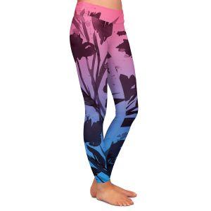 Casual Comfortable Leggings | Julia Di Sano - Pocketful Posies Pink Blue