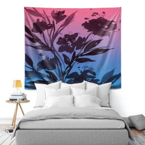 Artistic Wall Tapestry | Julia Di Sano - Pocketful Posies Pink Blue