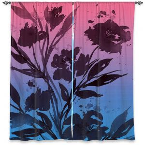 Decorative Window Treatments | Julia Di Sano - Pocketful Posies Pink Blue