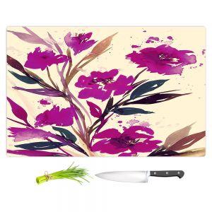Artistic Kitchen Bar Cutting Boards | Julia Di Sano - Pocketful Posies Pink
