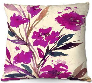 Decorative Outdoor Patio Pillow Cushion | Julia Di Sano - Pocketful Posies Pink
