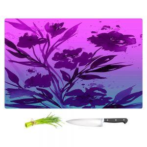 Artistic Kitchen Bar Cutting Boards | Julia Di Sano - Pocketful Posies Pink Purple